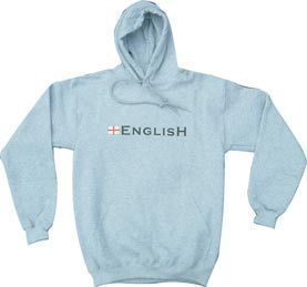 """English"" England Hoodie - Grey"