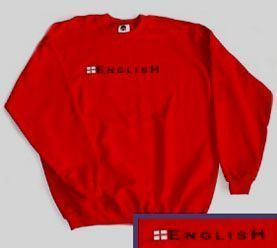 "England Sweatshirt with ""English"" print - Red"