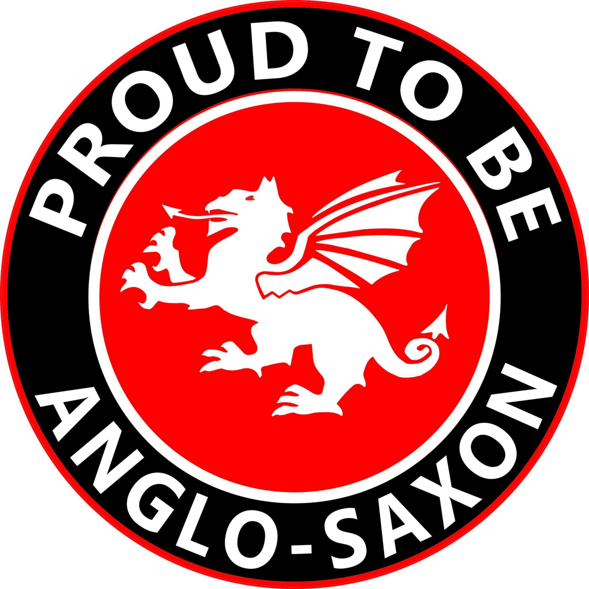 Proud to be anglo saxon white dragon round england car window sticker buycottarizona Images
