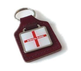 England Leather Keyring