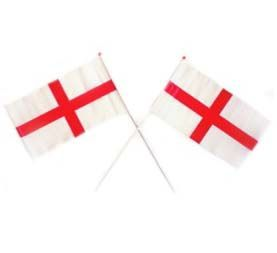 "Plastic St George Handwaving Flag 11"" x 8"""