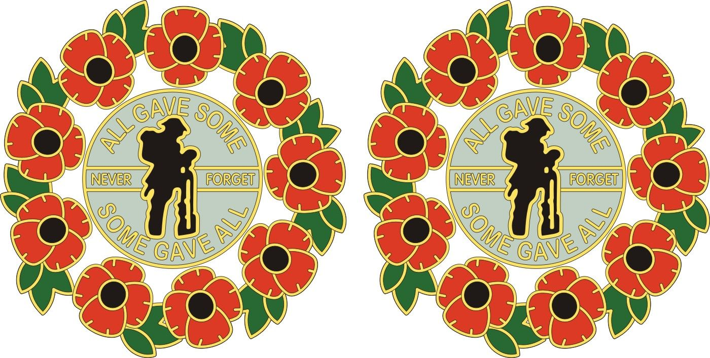 POPPY CAR STICKER WITH SOLDIER AND WREATH laptops Also for tablets phones...