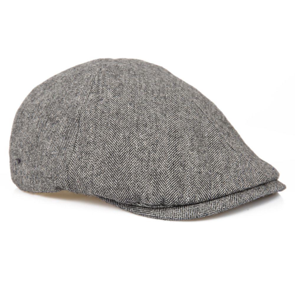 Senlak Herringbone Flat Cap - Light Grey fadde5e87b0