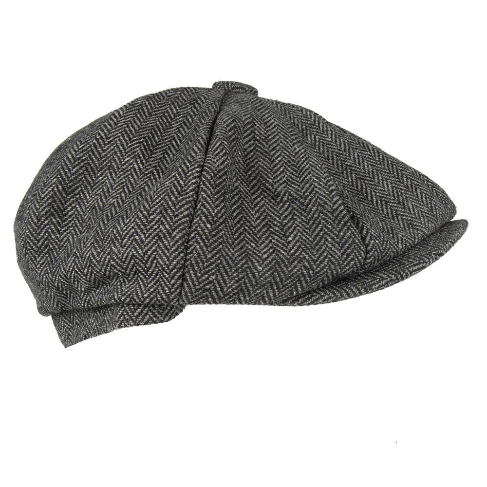 0fda2ec3e4fec Senlak Herringbone Weave Blinders Cap - Grey