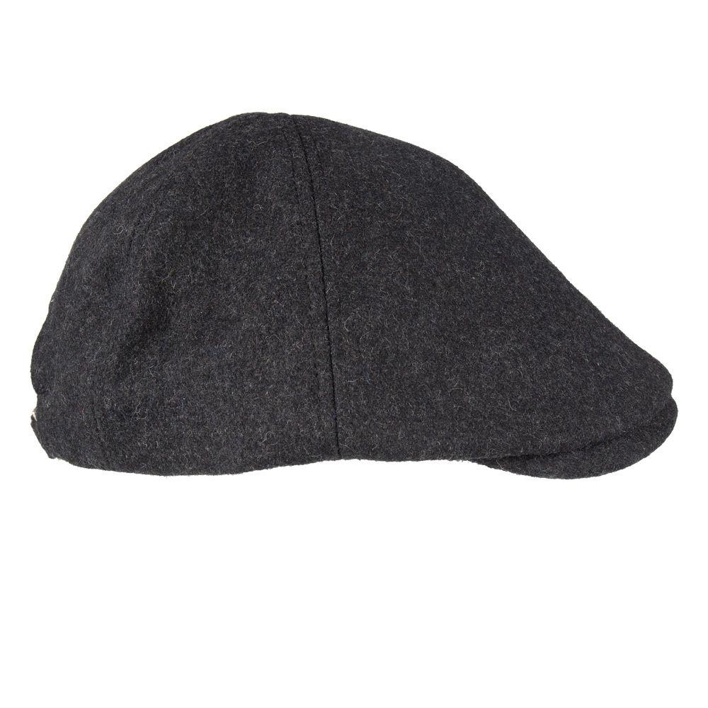 Senlak Melton Wool Flat Cap - Charcoal Marl bd8731c7bf8