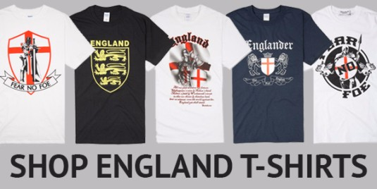 Huge range of England  t-shirts