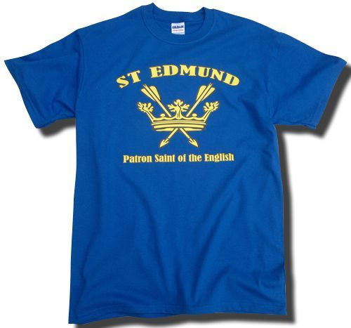 St Edmund Patron Saint of the English T-Shirt - Black