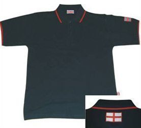 St George Cross Navy England Polo Shirt