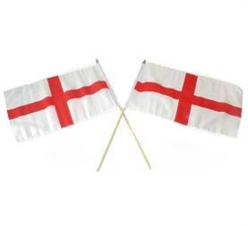 "St George Large Handwaving England Flag 12"" x 18"""